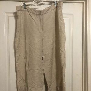 Cropped women's linen pants